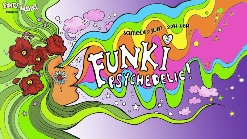 Party flyer for Funki Safari