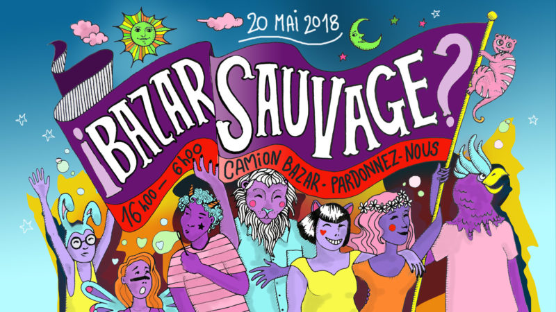 Facebook cover for the ?Sauvage! party